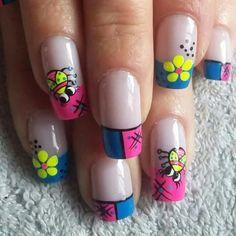 So cute Nails Cute Nails, Nail Designs, Painting, Beauty, Finger Nails, Fingernail Designs, Animales, Pretty Nails, Nail Desighns