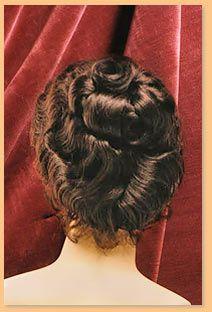 period wigs   Period Wigs: 1890's Women's