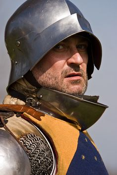 Reenactor in 15th Century Armor