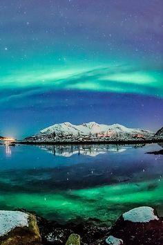 Aurora over Fjord - Tromsø, Norway