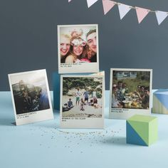 personalised metal polaroid prints, set of four by oakdene designs | notonthehighstreet.com