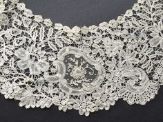 LARGE Antique Vintage Brussels Duchesse Point De Gaze Hand Made Lace Collar | eBay
