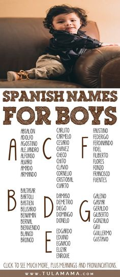 Beautiful Spanish Names for girls and boys. This is a comprehensive list with many strong old classic and traditional names but also many modern and unique names for your baby. The list also has unisex names. Pronunciations and meanings are included. Pin it. #spanishnames #babynames