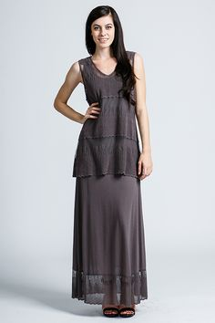 Mria Dress in French Charcoal