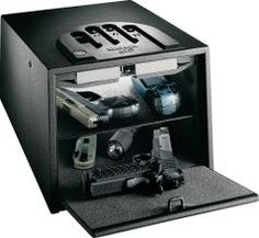 GunVault Biometric Safe. Not necessarily this one, but definitely a gun safe.