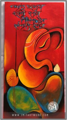Lord Ganesha Painting | Acrylic Today I am presenting Lambodar painting. This is one of the sanskrit name of Ganesha which means the one who has pot belly. Lord Ganesha is usually referred as Lambodar in Hinduism. Budha Painting, Abstract Art Painting, Lord Ganesha Paintings, Painting, Ganesh Art Paintings, Art Painting Acrylic, Art, Krishna Painting, Canvas Art Painting