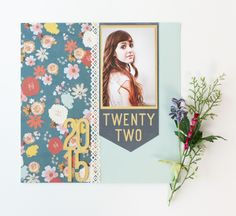Days and Dates Cricut Image Set - Twenty Two Scrapbook Layout page. Make It Now in Cricut Design Space