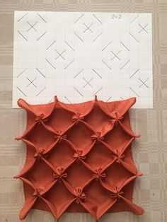 How to do canadian smocking matrix design - Art & Craft Ideas/буфы / Canadian smocking (via Lissette Valentin, Cojines) This Pin was discovered by Wam sewing and embroidery studio Comments in Topic Smocking Tutorial, Smocking Patterns, Embroidery Patterns, Sewing Patterns, Smocking Baby, Fabric Art, Fabric Crafts, Sewing Crafts, Sewing Projects