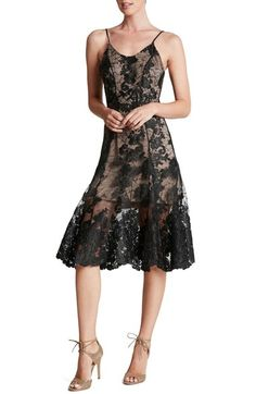 Dress the Population Corded Embroidered Lace Fit & Flare Dress available at #Nordstrom