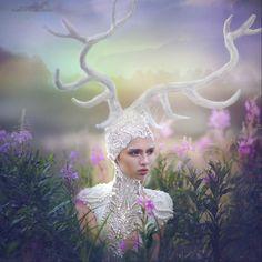 Margarita Kareva photography fairytale magic beauty fashion deer