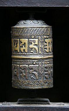 rueda de la oración, el templo de oro, Patan, Nepal, Asia