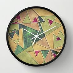 Earth Geometry Wall Clock by VessDSign - $30.00