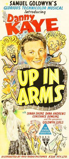 Danny Kaye's first movie Dana Andrews, Samuel Goldwyn, Old Movie Posters, Old Movies, All About Time, Musicals, Arms, Presents, Funny