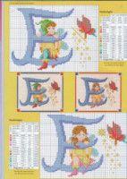 Fairy Alphabet - S Cross Stitch Alphabet Patterns, Cross Stitch Letters, Cross Stitch Animals, Stitch Patterns, Cross Stitch Family, Simple Cross Stitch, Cross Stitch Charts, Cross Stitching, Cross Stitch Embroidery
