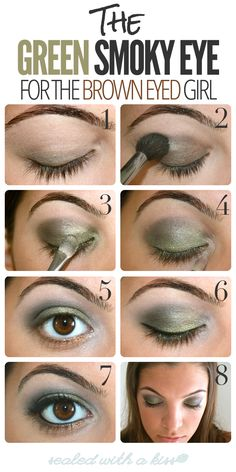 The Green Smoky Eye For The Brown Eyed Girl - Kouturekiss - Your One Stop Everything Beauty Spot - kouturekiss.com