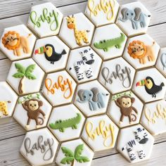 Let's talk about these COOKIES by One shape, such a beautiful Safari set, Morgan you rocked 🎸 this cutter! Baby Shower Decorations For Boys, Boy Baby Shower Themes, Baby Boy Shower, Safari Theme Baby Shower, Baby Shower Jungle, Jungle Theme, Baby Shower Cakes, Theme Mickey, Baby Boy 1st Birthday Party