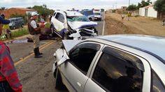 #LEIAMAIS WWW.OBSERVADORINDEPENDENTE.COM VÁRZEA DO POÇO:  Veículo da Prefeitura bate de frente com outro depois de atropelar animal na BA 417