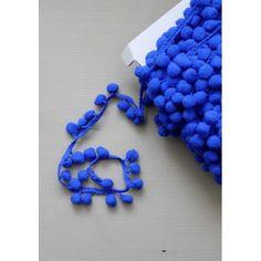 Galon pompons bleu roi 10mm