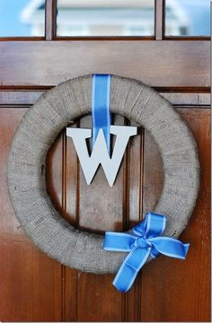 This is cute and would work on the door for all seasons. Super #cheap to make as well.