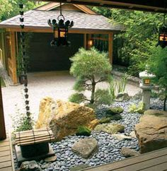 Stunning Rock Garden Landscaping Ideas 78 image is part of 100 Stunning Rock Garden Landscaping Ideas gallery, you can read and see another amazing image 100 Stunning Rock Garden Landscaping Ideas on website Small Japanese Garden, Japanese Garden Design, Japanese Gardens, Landscaping With Rocks, Backyard Landscaping, Landscaping Ideas, Asian Landscape, Landscape Design, Rock Yard