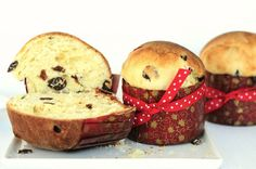 Panettone, an Italian sweet bread made at Christmas