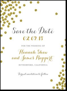 A typography focused Save the Date design simple and to the point