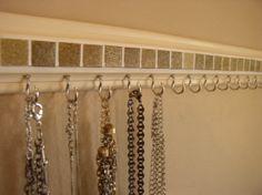jewelry organizer .This necklace holder rack in por gotahanguptoo, $24.00