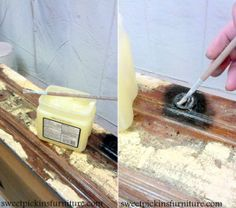 """""""Do you have any tiny areas that you don't want painted, like screws or hinges? Paint a thick layer of Vaseline over the areas, then paint as normal. After the paint has dried, go over the area with a paper towel and the paint will wipe right off. This is also a great trick for spray-painting."""" - from Jessalyn King"""