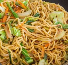 This is a tasty and healthy dish. The Yakisoba noodles are whole grain made from buckwheat, it uses chicken breast (or non-meat chicken shreads or just leave the meat out), and it has a fair amount…