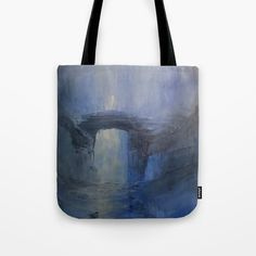 Under the bridge Tote Bag by taylorbernart Beach Bags, Poplin Fabric, Hand Sewn, Tote Bags, Totes, Stress, Sewing, Canvas, Amazing