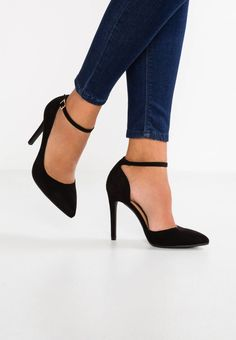 Anna Field Pumps with high heels - black Footbed: imitation cu High Heel Pumps, Black Pumps Heels, Platform High Heels, Stilettos, Women's Feet, Pretty Shoes, Ankle Strap Heels, Shoe Collection, Me Too Shoes