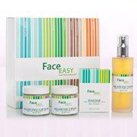 Eine effektive Behandlung von Akne und fettiger Haut mit Hilfe von FaceEasy Produkten (Seife, Lotion, Creme und Maske).