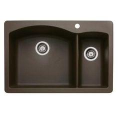 Silgranite kitchen sink. 80% granite, scratch and heat resistant.