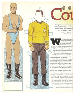 """Spring 1995.  TV Guide """"Star Trek Collector's Edition"""".  Star Trek paper dolls by Tom Tierney.  I do not know if these paper dolls were just for TV Guide or if they are from a published paper doll book. 1 of 7"""