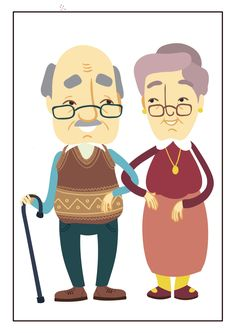 Grandmother and Grandfather Desaign Character-clipart by Indograph Diy For Kids, Crafts For Kids, Wool Mats, Happy Grandparents Day, Hand Gestempelt, Photography Logos, Cards For Friends, Scatter Cushions, Birthday Cards