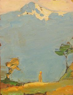 Tuomo Saali, Vanderer and the Roof of Heavens, oil on canvas 2006
