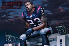 Arian Foster...great guy and player. Love when he does the namaste since I am Indian! :)