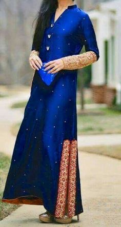 Royal blue elegant dress......