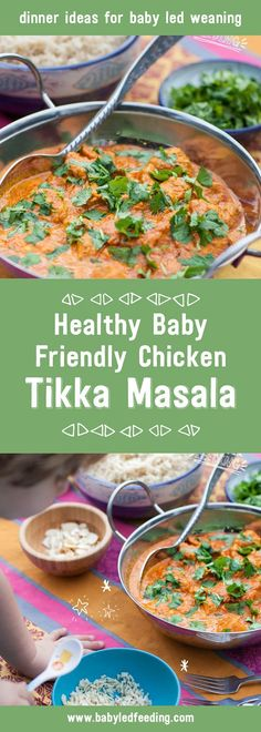 Healthy Chicken Tikka Masala for Baby Led Weaning This recipe is a hit with kids of all ages. It is deliciously creamy and is a baby friendly family meal. Dinner recipes for baby led weaning Chicken Tikka Masala, Pollo Tikka Masala, Chicken Curry, Baby Food Recipes, Dinner Recipes, Healthy Recipes, Chicken Recipes For Babies, Recipes For Toddlers, Baby Lead Weaning Recipes