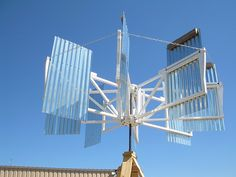 "Alternative Energy - The ""Vertical Wind Turbine"" is the most efficient windmill design and can be built using simple materials. Mounted on the roof top, it can provide enough power to light an average home."