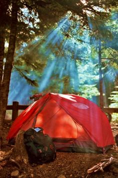 This looks so fun...mind you the spiders are in there waiting to kill me in the night!  My love/hate relationship with camping.