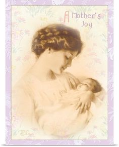 """""""A Mother's Joy"""", Art Print by American artist - Bessie Pease Gutmann… Bessie Pease Gutmann, Decoupage, Joy Art, Images Vintage, Wall Art Prints, Canvas Prints, Baby Wall Art, Mother And Child, Mother Art"""