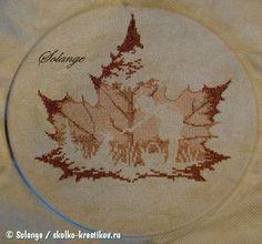 Проект Осенний силуэт | Solange | Сколько-крестиков.ру, вышивка крестом