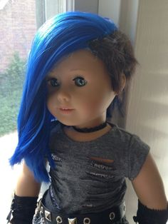 """Maybe glue in some """"extensions"""" that are fun colored on those dolls whose . Maybe glue in some """"extensions"""" that are fun colored on those dolls whose hair cannot be -"""