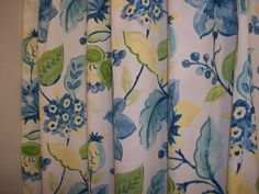 Items Similar To Shower Curtain Extra Wide Or Standard Width Length Also Custom Bath Alyssa Lagoon Floral Yellow Blue Green On Etsy