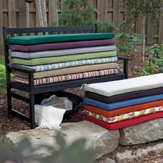 it's time to hang the glider on the front porch... and here are some cushion ideas $50