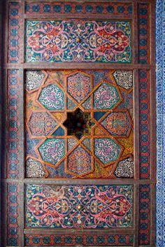 Ceiling detail, Khiva, Qoraqalpoghiston, Uzbekistan