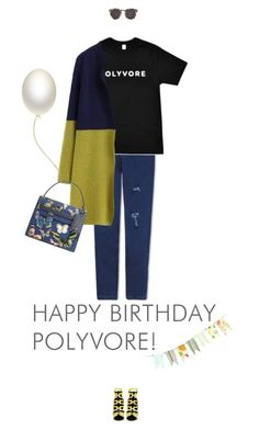 """""""Happy Birthday Polyvore!"""" by missiopa ❤ liked on Polyvore featuring Pierre Hardy, Valentino, Illesteva, women's clothing, women, female, woman, misses, juniors and contestentry"""