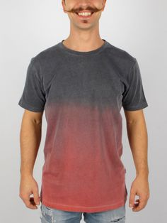 """Tie dye t-shirt """"black blood"""" hipster, urban style, 100%cotone, made in Italy"""