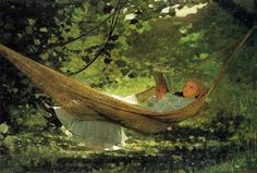 """Summer Boat : Ten Tips for Finding the Omm of Summer. """"In the Hammock"""" by Winslow Homer"""